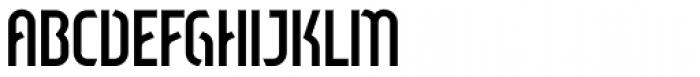 Sliced Open Regular Font UPPERCASE