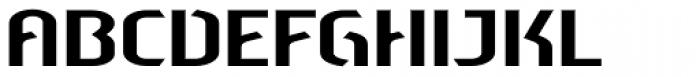 Sliced Open Wide Font UPPERCASE