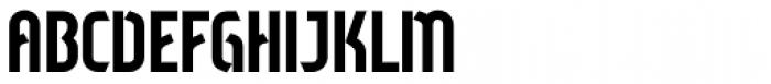 Sliced Regular Font UPPERCASE