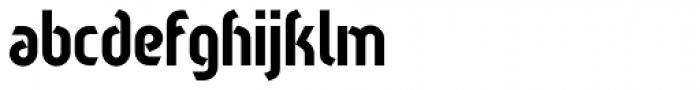 Sliced Regular Font LOWERCASE