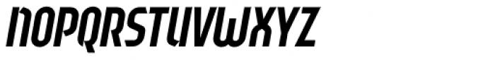 Sliced Tilted Font UPPERCASE