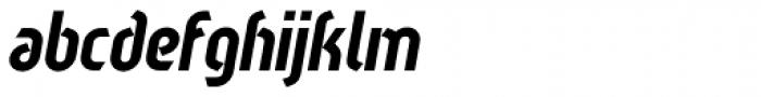 Sliced Tilted Font LOWERCASE