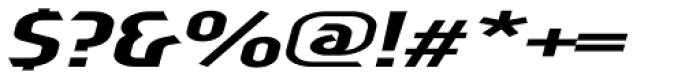 Sliced Wide Tilted Font OTHER CHARS