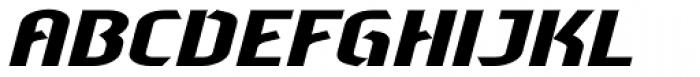 Sliced Wide Tilted Font UPPERCASE
