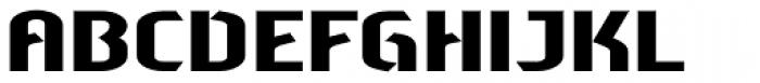Sliced Wide Font UPPERCASE