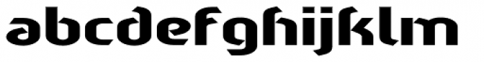Sliced Wide Font LOWERCASE