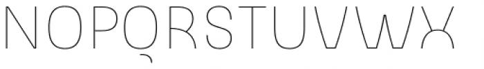 Slik Ultralight Font UPPERCASE