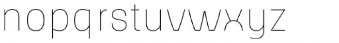 Slik Ultralight Font LOWERCASE