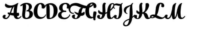 Slim Tony Font UPPERCASE