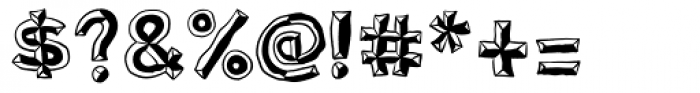 Sluggo Lefthook Font OTHER CHARS