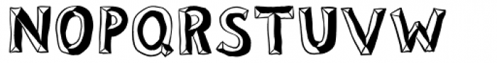 Sluggo Lefthook Font UPPERCASE