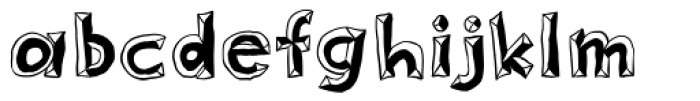 Sluggo Lefthook Font LOWERCASE