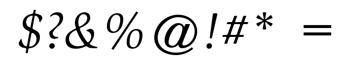 SlimbachStd-BookItalic Font OTHER CHARS