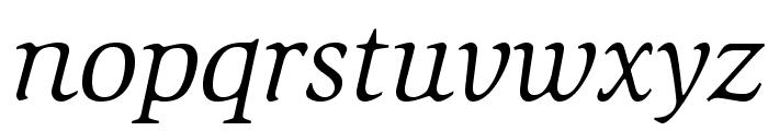 SlimbachStd-BookItalic Font LOWERCASE