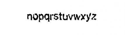 Slackhappy Regular Font LOWERCASE