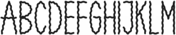 SMOKEY Regular otf (400) Font LOWERCASE
