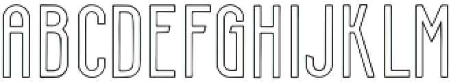 Smithereens Outline otf (400) Font UPPERCASE