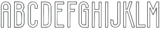Smithereens Outline otf (400) Font LOWERCASE
