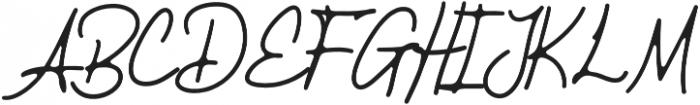 Smithers otf (400) Font UPPERCASE