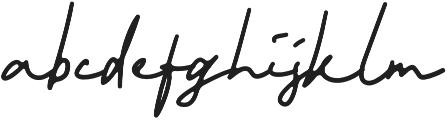 Smithers otf (400) Font LOWERCASE