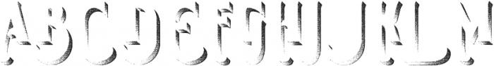 Smoking Typeface Shadow otf (400) Font UPPERCASE