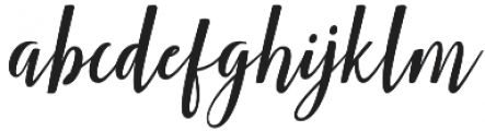 Smonthia Script Regular otf (400) Font LOWERCASE