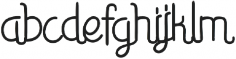 Smoother otf (400) Font LOWERCASE
