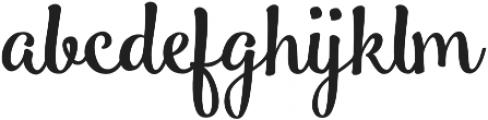 Smoothie Shoppe Regular otf (400) Font LOWERCASE