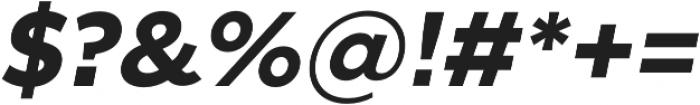 SmytheSansItalic Bold otf (700) Font OTHER CHARS
