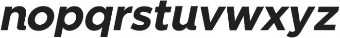 SmytheSansItalic Bold otf (700) Font LOWERCASE