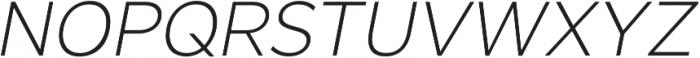 SmytheSansItalic UltraLight otf (300) Font UPPERCASE