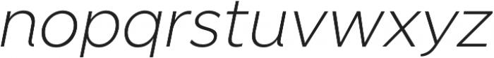 SmytheSansItalic UltraLight otf (300) Font LOWERCASE
