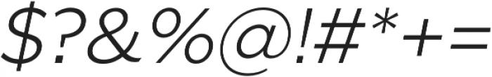 SmytheSansOblique Light otf (300) Font OTHER CHARS