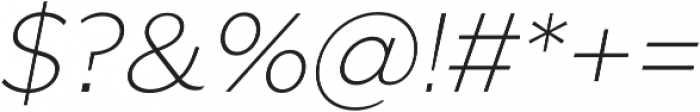 SmytheSansOblique Thin otf (100) Font OTHER CHARS