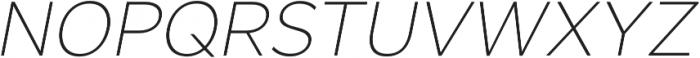 SmytheSansOblique Thin otf (100) Font UPPERCASE