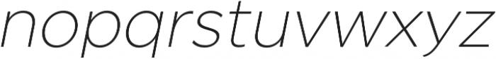 SmytheSansOblique Thin otf (100) Font LOWERCASE