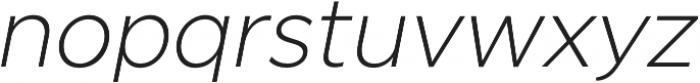 SmytheSansOblique UltraLight otf (300) Font LOWERCASE