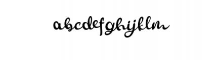 Smoothy.otf Font LOWERCASE