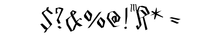 SmallEdgedFrax Font OTHER CHARS