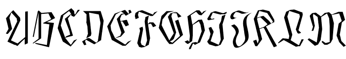SmallEdgedFrax Font UPPERCASE