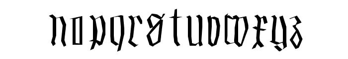 SmallEdgedFrax Font LOWERCASE