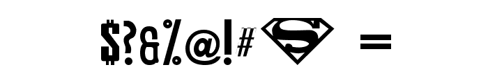 Smallville Solid Font OTHER CHARS
