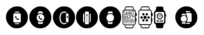 Smartwatch Font OTHER CHARS
