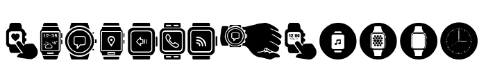 Smartwatch Font UPPERCASE