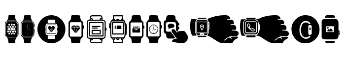 Smartwatch Font LOWERCASE