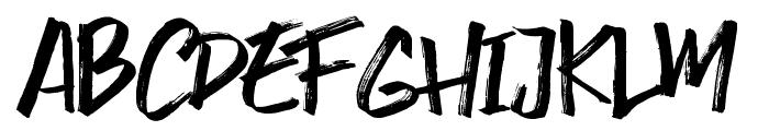 Smasher Font UPPERCASE
