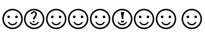 Smiley Faces Font OTHER CHARS