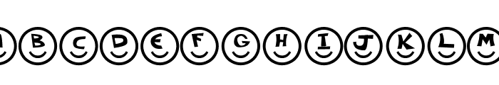 Smiley Faces Font UPPERCASE