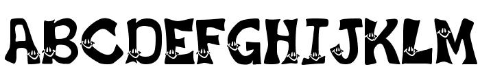 Smiley Font Font UPPERCASE