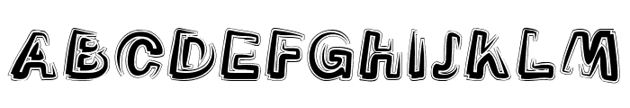 Smoke-Contour-Italic Font UPPERCASE